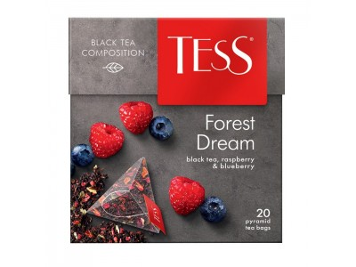 Чай черный в пирамидках Tess Forest Dream (Тесс Форест Дрим), 20*1,8 г