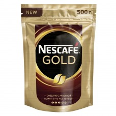 Кофе растворимый Nescafe Gold, м/у, 500 г