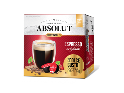 Кофе капсульный Drive Absolut ESPRESSO original (Драйв Абсолют Эспрессо ориджинал), 16 капсул*6 г