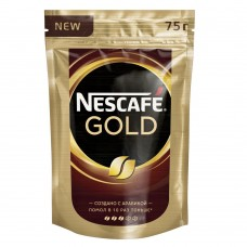 Кофе растворимый Nescafe Gold, м/у, 75 г
