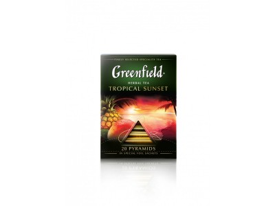 Чай в пирамидках Greenfield Tropical Sunset (Гринфилд Тропикал Сансет), 20*1,8 г