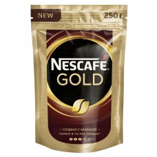 Кофе растворимый Nescafe Gold, м/у, 250 г
