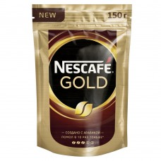 Кофе растворимый Nescafe Gold, м/у, 150 г